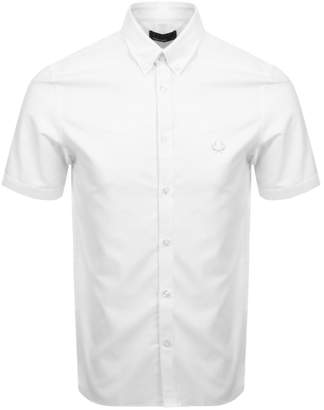 Fred Perry Short Sleeved Twill Shirt White