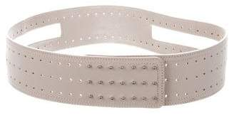 Max Azria Wide Leather Waist Belt
