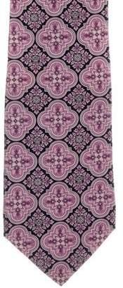 Versace Silk Floral Print Tie