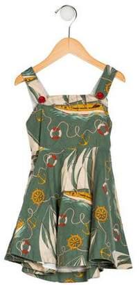 Ralph Lauren Girls' Printed Sleeveless Dress