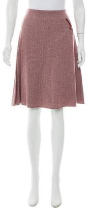 Loro Piana Cashmere Knee-Length Skirt
