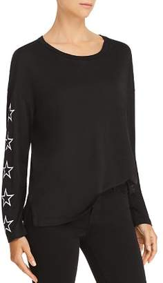Monrow Embroidered-Star Slouchy Tee