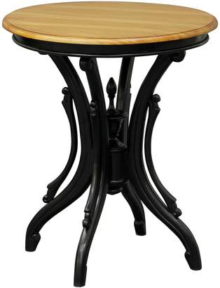Kayu Estate Side Tables Queen Ann Round Side Table, Accented