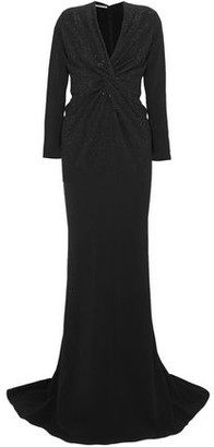 Stella McCartney Crystal-Embellished Stretch-Crepe Gown