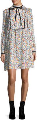 A.P.C. Rita Floral Tie-Neck Dress