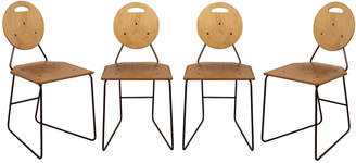 Rejuvenation Set of 4 Plywood and Iron Chairs