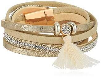 Panacea Women's Leather Mag Wrap Bracelet