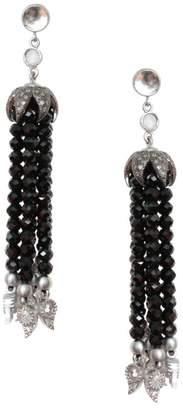 Coomi Silver Vitality Diamond, Labradorite, Crystal & Sterling Silver Tassel Earrings