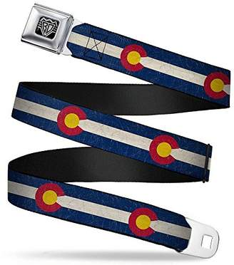 Buckle-Down Unisex-Adults Seatbelt Belt Colorado Regular