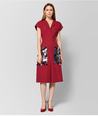 Bottega Veneta China Red Linen Dress