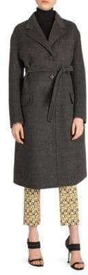 Prada Wool-Blend Belted Coat