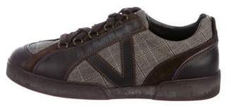 Louis Vuitton Prince Of Wales Leather-Trimmed Low-Top Sneakers