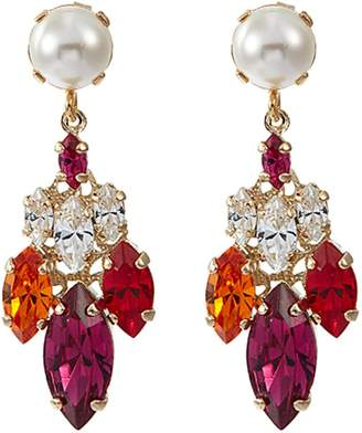 Anton Heunis 'Harlquin' small Swarovski pearl glass crystal drop earrings