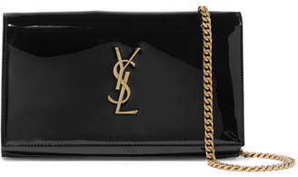 Saint Laurent Monogramme Kate Small Patent-leather Shoulder Bag - Black