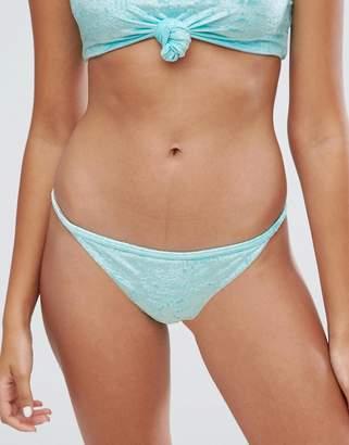 Bershka Berskha Velvet Bikini Bottoms
