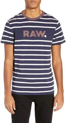 G Star Mow Stripe Logo T-Shirt