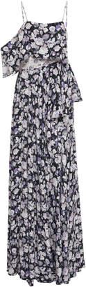 AMUR Calia Printed Crepe Layered Gown