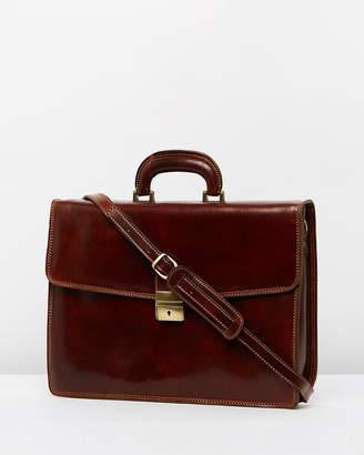 Acton Leather Briefcase