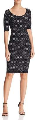 Milly Scalloped Cutout Dress