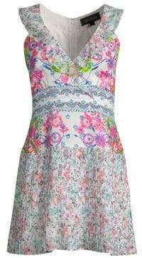 Saloni Amy Silk Mini Dress