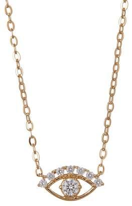 Nadri 18K Gold Plated Brass CZ Eye Pendant Necklace