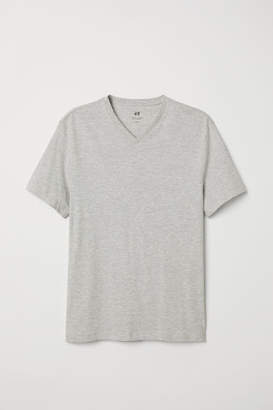 H&M V-neck T-shirt Regular fit - Gray