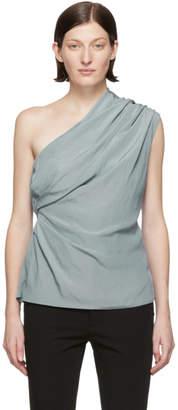 Lanvin Grey Asymmetric Blouse