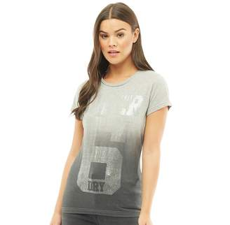 Superdry Womens Super No.6 Foil Entry T-Shirt Grey Grit