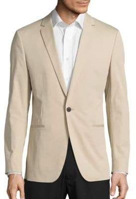 Theory Stirling Solid Long-Sleeve Cotton-Blend Jacket