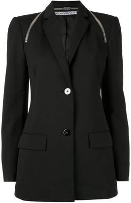 Alexander Wang tailored zipper detail blazer