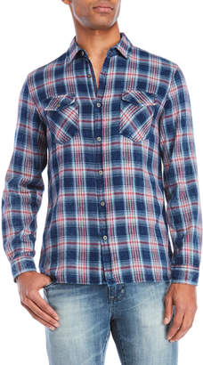 Thread & Cloth Plaid Two-Pocket Shirt