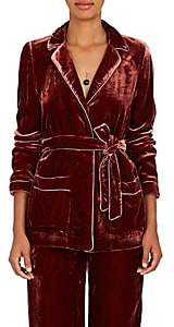 Barneys New York Women's Velvet Robe Jacket - Rust