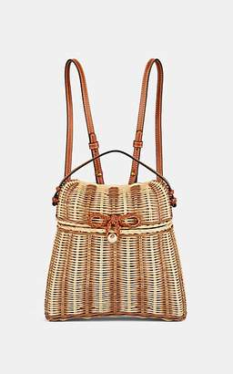 Ulla Johnson Women's Taja Leather-Trimmed Rattan Backpack - Neutral