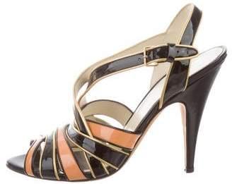 Miu Miu Patent Leather Multistrap Sandals