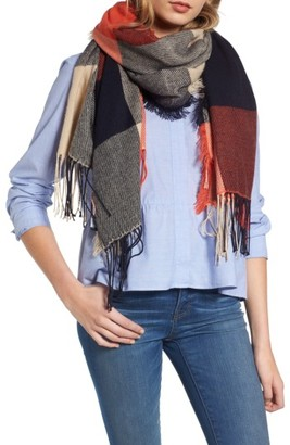 Women's Madewell Checkmate Fringe Scarf $59.50 thestylecure.com