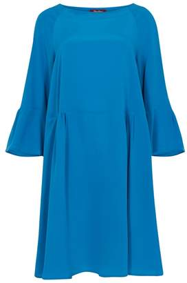 Max Mara Cobalt Blue Washed Silk Dress