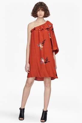 French Connection Delphine Draped One Shoulder Dress