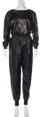 Saint Laurent 2016 Leather Jumpsuit