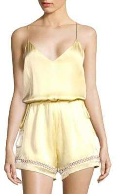 CAMI NYC Chandler Silk Romper