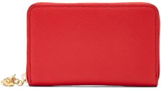 Alexander McQueen Zip-around continental grained-leather wallet