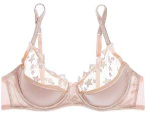 Mimi Holliday Angel Face Embroidered Tulle And Satin Push-Up Bra