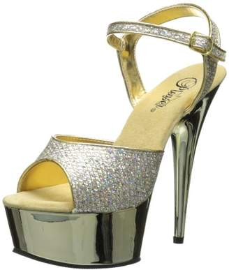 Pleaser USA Women's Delight-609G Ankle-Strap Sandal