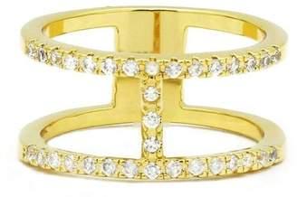 Embellish Metal Crystal Ring