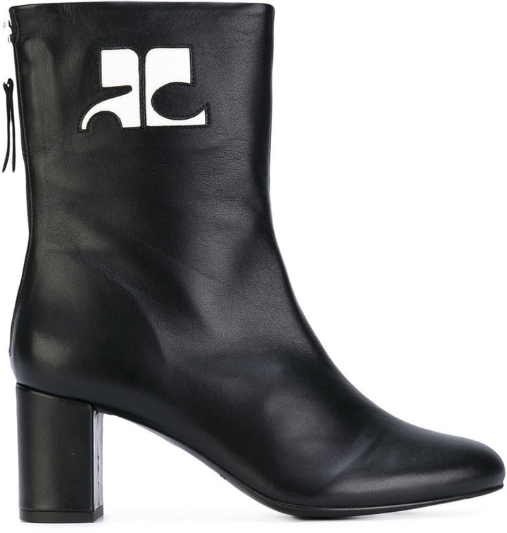 Courreges Courrèges logo patch ankle boots