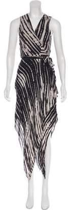 Haute Hippie Asymmetrical Wrap Dress Black Asymmetrical Wrap Dress