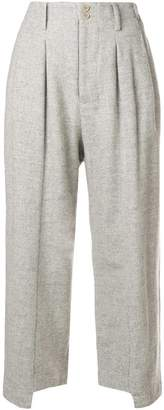Plantation cropped straight-leg trousers