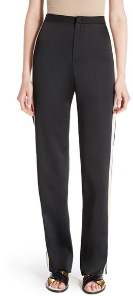 Lanvin Women's Lanvin Satin Side Stripe Track Pants