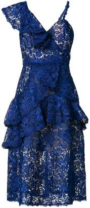 Alice + Olivia Alice+Olivia asymmetric lace dress
