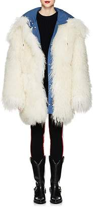 Calvin Klein Women's Reversible Shearling Oversized Coat