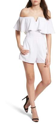 Leith Strapless Flounce Romper
